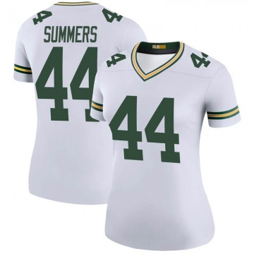 Women's Nike Green Bay Packers Ty Summers White Color Rush Jersey - Legend