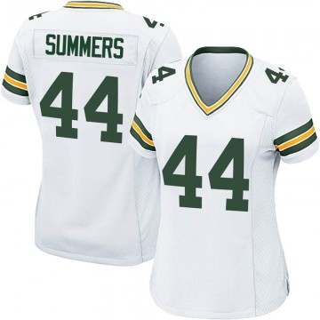 Women's Nike Green Bay Packers Ty Summers White Jersey - Game