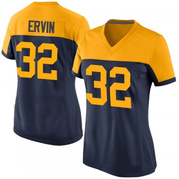 Women's Nike Green Bay Packers Tyler Ervin Navy Alternate Jersey - Game