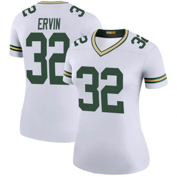 Women's Nike Green Bay Packers Tyler Ervin White Color Rush Jersey - Legend
