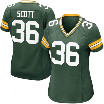 Women's Nike Green Bay Packers Vernon Scott Green Team Color Jersey - Game
