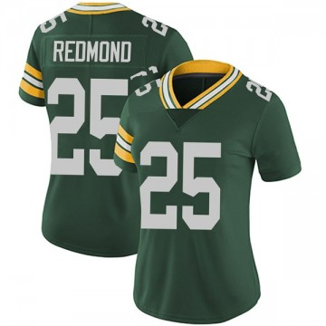 Women's Nike Green Bay Packers Will Redmond Green Team Color Vapor Untouchable Jersey - Limited
