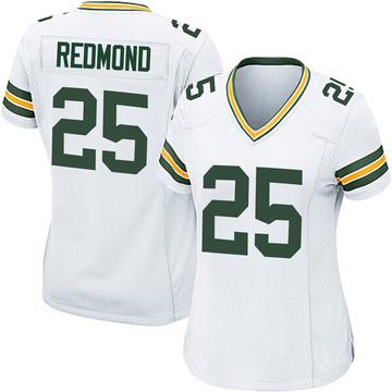 Women's Nike Green Bay Packers Will Redmond White Jersey - Game