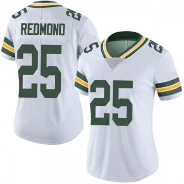 Women's Nike Green Bay Packers Will Redmond White Vapor Untouchable Jersey - Limited