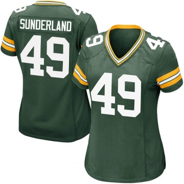 Women's Nike Green Bay Packers Will Sunderland Green Team Color Jersey - Game