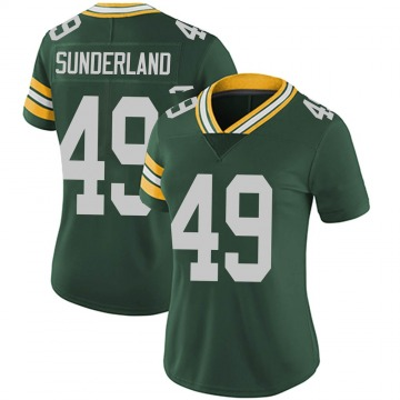 Women's Nike Green Bay Packers Will Sunderland Green Team Color Vapor Untouchable Jersey - Limited