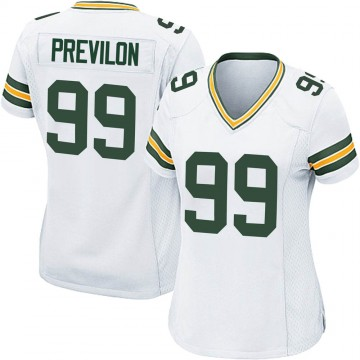 Women's Nike Green Bay Packers Willington Previlon White Jersey - Game