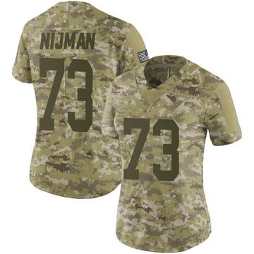 Women's Nike Green Bay Packers Yosh Nijman Camo 2018 Salute to Service Jersey - Limited