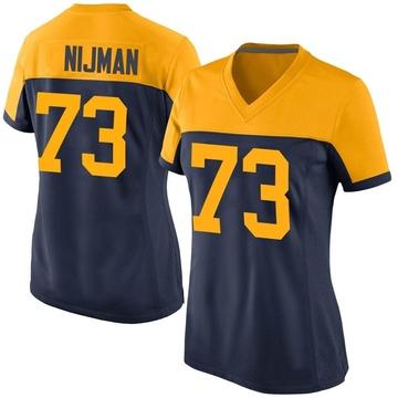 Women's Nike Green Bay Packers Yosh Nijman Navy Alternate Jersey - Game