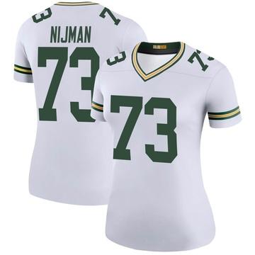 Women's Nike Green Bay Packers Yosh Nijman White Color Rush Jersey - Legend