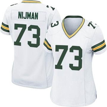 Women's Nike Green Bay Packers Yosh Nijman White Jersey - Game