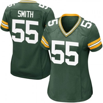 Women's Nike Green Bay Packers Za'Darius Smith Green Team Color Jersey - Game