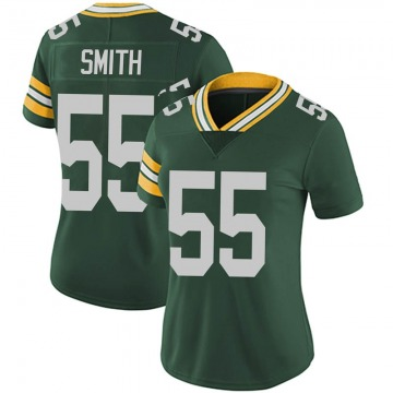 Women's Nike Green Bay Packers Za'Darius Smith Green Team Color Vapor Untouchable Jersey - Limited