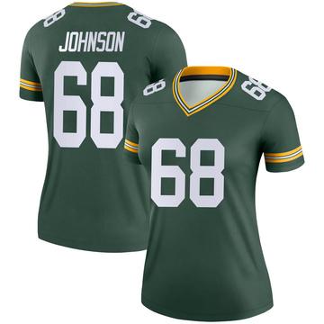 Women's Nike Green Bay Packers Zack Johnson Green Jersey - Legend