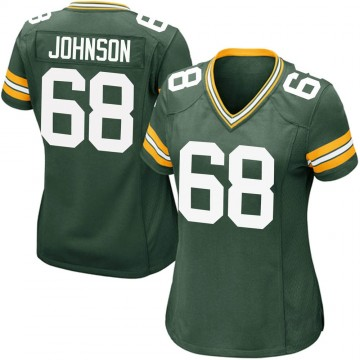 Women's Nike Green Bay Packers Zack Johnson Green Team Color Jersey - Game