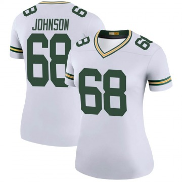 Women's Nike Green Bay Packers Zack Johnson White Color Rush Jersey - Legend