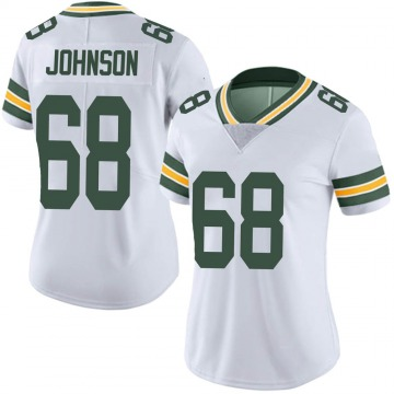 Women's Nike Green Bay Packers Zack Johnson White Vapor Untouchable Jersey - Limited