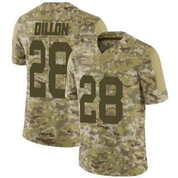 Youth Nike Green Bay Packers AJ Dillon Camo 2018 Salute to Service Jersey - Limited