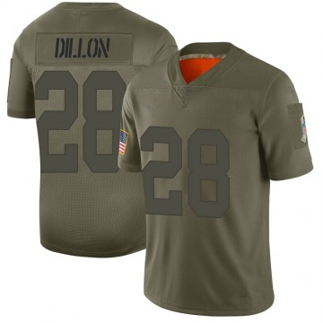 Youth Nike Green Bay Packers AJ Dillon Camo 2019 Salute to Service Jersey - Limited