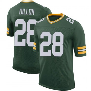 Youth Nike Green Bay Packers AJ Dillon Green 100th Vapor Jersey - Limited