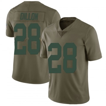 Youth Nike Green Bay Packers AJ Dillon Green 2017 Salute to Service Jersey - Limited