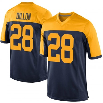 Youth Nike Green Bay Packers AJ Dillon Navy Alternate Jersey - Game