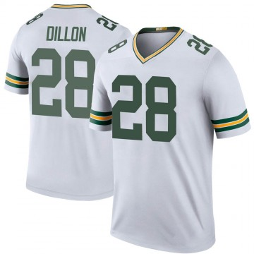Youth Nike Green Bay Packers AJ Dillon White Color Rush Jersey - Legend