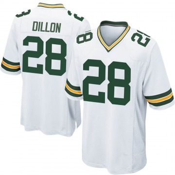 Youth Nike Green Bay Packers AJ Dillon White Jersey - Game