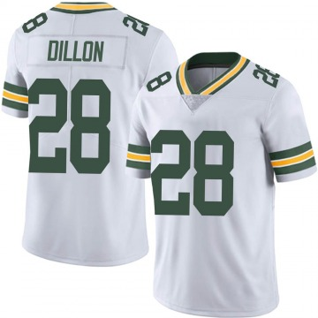 Youth Nike Green Bay Packers AJ Dillon White Vapor Untouchable Jersey - Limited