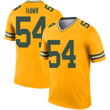 Youth Nike Green Bay Packers A.J. Hawk Gold Inverted Jersey - Legend