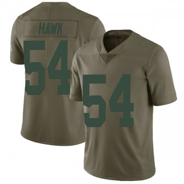 Youth Nike Green Bay Packers A.J. Hawk Green 2017 Salute to Service Jersey - Limited