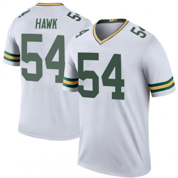 Youth Nike Green Bay Packers A.J. Hawk White Color Rush Jersey - Legend