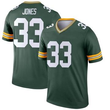 Youth Nike Green Bay Packers Aaron Jones Green Jersey - Legend