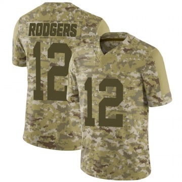 Youth Nike Green Bay Packers Aaron Rodgers Camo 2018 Salute to Service Jersey - Limited