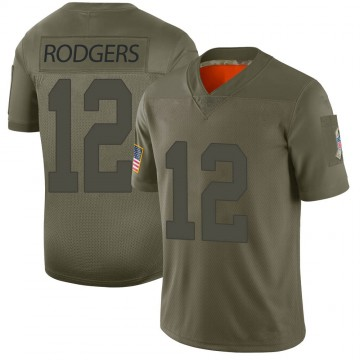 Youth Nike Green Bay Packers Aaron Rodgers Camo 2019 Salute to Service Jersey - Limited