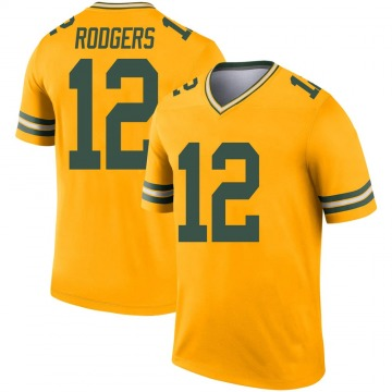 Youth Nike Green Bay Packers Aaron Rodgers Gold Inverted Jersey - Legend