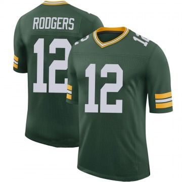 Youth Nike Green Bay Packers Aaron Rodgers Green 100th Vapor Jersey - Limited