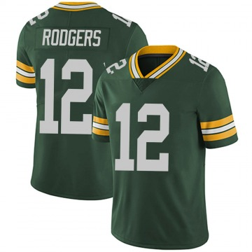 Youth Nike Green Bay Packers Aaron Rodgers Green Team Color Vapor Untouchable Jersey - Limited