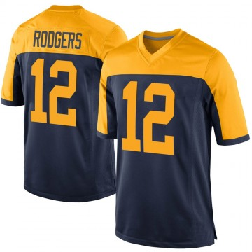 Youth Nike Green Bay Packers Aaron Rodgers Navy Alternate Jersey - Game