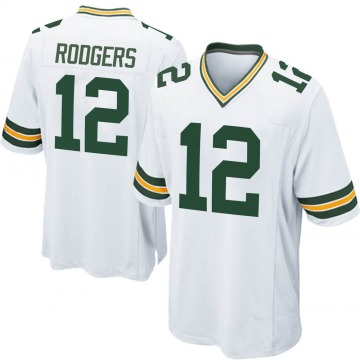 Youth Nike Green Bay Packers Aaron Rodgers White Jersey - Game