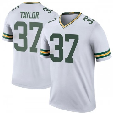 Youth Nike Green Bay Packers Aaron Taylor White Color Rush Jersey - Legend