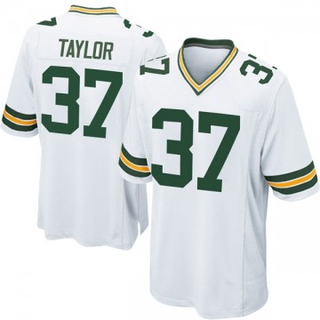 Youth Nike Green Bay Packers Aaron Taylor White Jersey - Game
