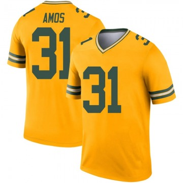 Youth Nike Green Bay Packers Adrian Amos Gold Inverted Jersey - Legend