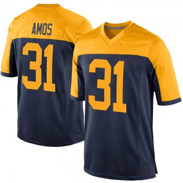 Youth Nike Green Bay Packers Adrian Amos Navy Alternate Jersey - Game