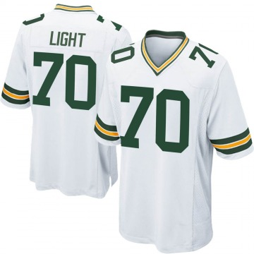 Youth Nike Green Bay Packers Alex Light White Jersey - Game