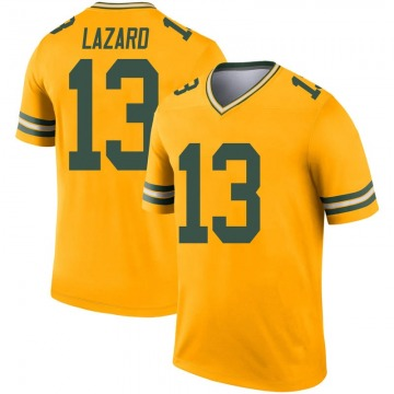 Youth Nike Green Bay Packers Allen Lazard Gold Inverted Jersey - Legend