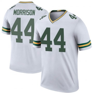 Youth Nike Green Bay Packers Antonio Morrison White Color Rush Jersey - Legend