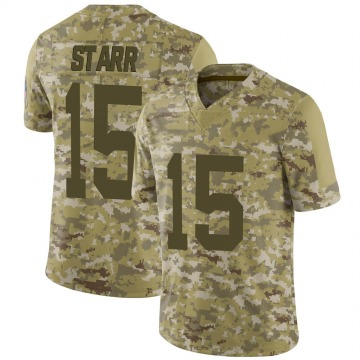 Youth Nike Green Bay Packers Bart Starr Camo 2018 Salute to Service Jersey - Limited