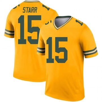 Youth Nike Green Bay Packers Bart Starr Gold Inverted Jersey - Legend