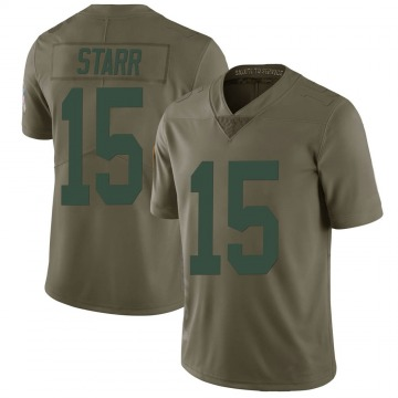 Youth Nike Green Bay Packers Bart Starr Green 2017 Salute to Service Jersey - Limited